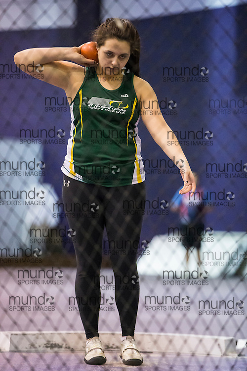 Rebecca Chouinard competes at the STL-LW All Comers Meet # 2 in London, Ontario, Saturday, January 24, 2015.<br /> Mundo Sport Images/ Geoff Robins