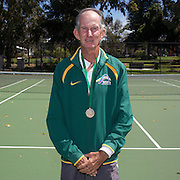Dennis Bindon, Australia, Semi Finalist, 65 Mens Singles, during the 2009 ITF Super-Seniors World Team and Individual Championships at Perth, Western Australia, between 2-15th November, 2009.