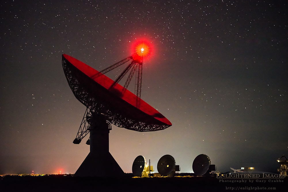 Stars at night over the Owens Valley Radio Observatory at Big Pine, Inyo County, Eastern Sierra, California