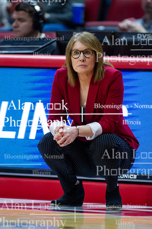 NORMAL, IL - February 07: Andrea Gorski during a college women's basketball game between the ISU Redbirds and the Braves of Bradley University February 07 2020 at Redbird Arena in Normal, IL. (Photo by Alan Look)