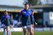 Ryan Hampshire (29) of Wakefield Trinity warming up before the Betfred Super League match between Wakefield Trinity Wildcats and Warrington Wolves at Belle Vue, Wakefield, United Kingdom on 16 February 2020.