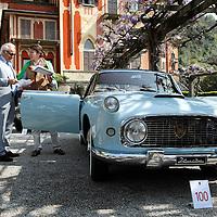 1955 Lancia Aurelia B56 Florida Pininfarina with collector Corrado Lopresto, Concorso d'Eleganza Villa d'Este Italy 2010