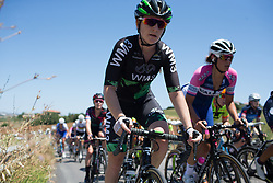 Lauren Kitchen (AUS) of WM3 Pro Cycling Team rides mid-pack in the second lap of Stage 6 of the Giro Rosa - a 116.1 km road race, starting and finishing in Roseto Degli Abruzzi on July 5, 2017, in Teramo, Italy. (Photo by Balint Hamvas/Velofocus.com)