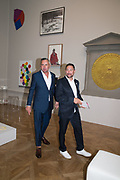 DJ FAT TONY; ( BROWN SHOES) WILLIAM BAKER, Royal Academy Summer Exhibition party. Burlington House. Piccadilly. London. 6 June 2018