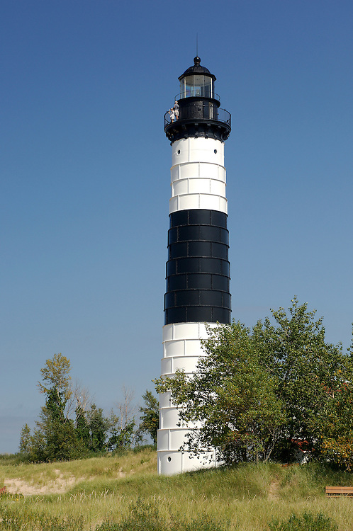 Lighthouse, Ludington State Park, Lake Michigan, near Ludington, Michigan, USA
