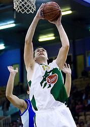 Uros Slokar of Olimpija at Superpokal basketball match between KK Union Olimpija and Elektra Esotech, on September 27, 2009, in Arena Tivoli, Ljubljana, Slovenia. Olimpija won 95:62.  (Photo by Vid Ponikvar / Sportida)