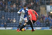 Blackburn Rovers midfielder, Ben Marshall (10) during the Sky Bet Championship match between Blackburn Rovers and Brighton and Hove Albion at Ewood Park, Blackburn, England on 16 January 2016.