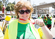 22/11/2015  repro fee. A group of  irish people travelled with Gorta-Self Help Africa travelled to the capital of Ethiopia Addis Ababa for the great Ethiopian run. In temperatures in the mid 30 degree heat and 40,000 people and a city at 7,500 feet above sea level, it's no mean feat.  Siobhaun Farragher from Annaghdown, Galway .  Photo:Andrew Downes.
