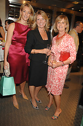 Left to right, FIONA DREESMAN, CAROL BENNETT and JUNITA KERMAN at an evening of private shopping in aid of Elizabeth Fitzroy Support at Tiffany & Co, 145 Sloane Street, London on 14th May 2008.<br />