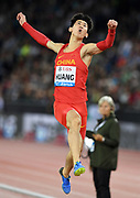 Changzhou Huang (CHN) places eighth in the long jump at 26-0 3/4 (7.94m) during the Weltklasse Zurich in an IAAF Diamond League meeting at Letzigrund Stadium in Zurich, Switzerland on Thursday, August 30, 2018.(Jiro Mochizuki/Image of Sport)