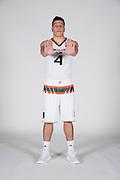 September 28, 2016: Dejan Vasiljevic #4 poses during  Miami Hurricanes Men's Basketball Photo Day in Coral Gables, Florida.