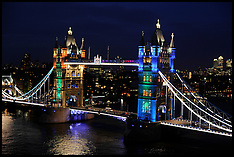 Tower Bridge Lit Up 30-5-12
