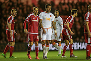 Tom Huddlestone (Hull City) waits for the corner to be delivered during the Sky Bet Championship match between Middlesbrough and Hull City at the Riverside Stadium, Middlesbrough, England on 18 March 2016. Photo by Mark P Doherty.