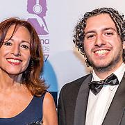 NLD/Hilversum//20170306 - uitreiking Buma Awards 2017, Paula Patricio en zoon Miro Temming