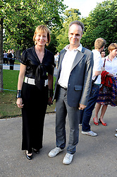 JULIA PEYTON-JONES and HANS ULRICH OBRIST at a party at the Serpentine Gallery, Kensington Gardens, London to unveil their summer Pavilion designed by Frank Gehry on 20th July 2008.<br /> <br /> NON EXCLUSIVE - WORLD RIGHTS