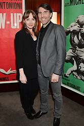 """JOHN CUSWORTH and ALEXIS CALEY at a private screening Of """"The Gun, The Cake and The Butterfly"""" hosted by Amanda Eliasch at The Bulgari Hotel, 171 Knightsbridge, London on 24th March 2014."""