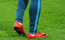 Jordan Ayew of Swansea City's boots- Mandatory by-line: Nizaam Jones/JMP - 27/02/2018 - FOOTBALL - Liberty Stadium - Swansea, Wales-Swansea City v Sheffield Wednesday - Emirates FA Cup fifth round proper