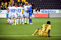 Fotball<br /> 30.04.2015<br /> Tippeligaen<br /> Bodø/Glimt v Haugesund<br /> Foto: Kent Even Grundstad/Digitalsport<br /> <br /> Papa Alioune Ndiaye - BG depper<br /> Haugesund jubler