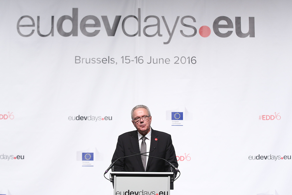 20160616 - Brussels , Belgium - 2016 June 16th - European Development Days - Special address from Her Majesty Mathilde the Queen of Belgians - Neven Mimica<br /> EU Commissioner for International Cooperation and Development &copy; European Union