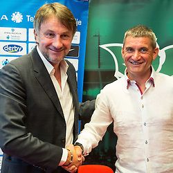 20150610: SLO, Football - Marijan Pusnik new coach of NK Olimpija