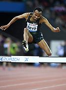 Chala Beyo (ETH) places fourth in the steeplechase in 8:15.85  during the Weltklasse Zurich in an IAAF Diamond League meeting at Letzigrund Stadium in Zurich, Switzerland on Thursday, August 30, 2018.(Jiro Mochizuki/Image of Sport)