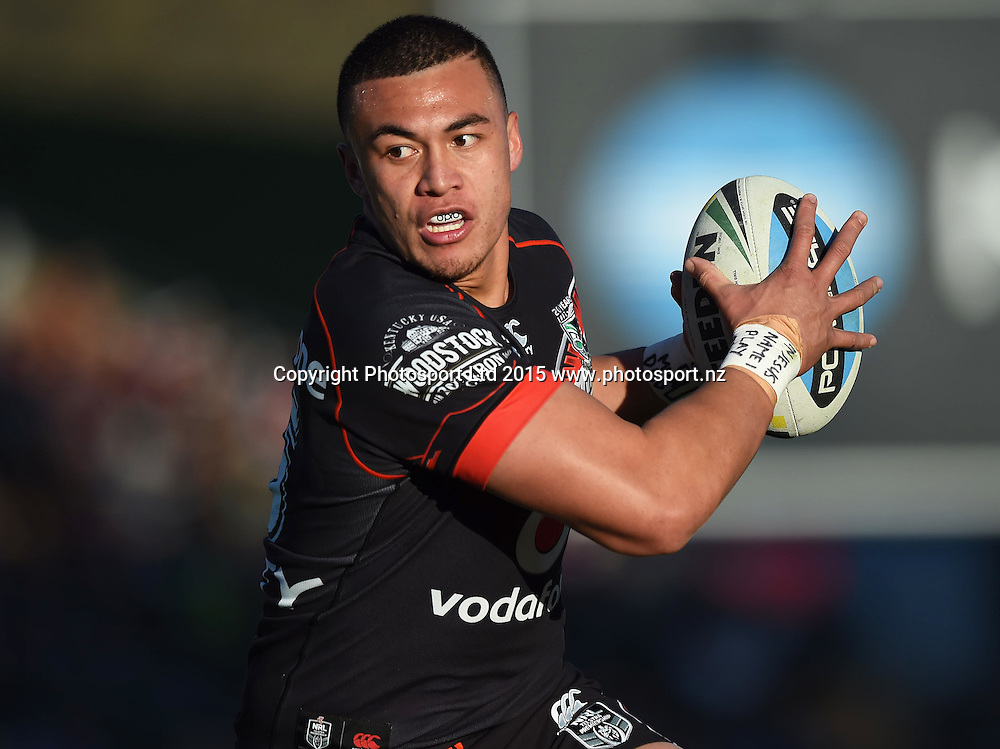 Raymond Faitala-Mariner during the NRL Rugby League match between the Vodafone Warriors and The Melbourne Storm at Mt Smart Stadium, Auckland, New Zealand. Sunday 12 July 2015. Copyright Photo: Andrew Cornaga / www.Photosport.nz