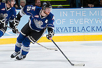 KELOWNA, CANADA -FEBRUARY 8: Ben Walker #10 of the Victoria Royals skates against the Victoria Royals on February 8, 2014 at Prospera Place in Kelowna, British Columbia, Canada.   (Photo by Marissa Baecker/Getty Images)  *** Local Caption *** Ben Walker;