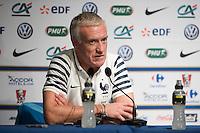 Didier Deschamps - 01.06.2015 - Conference de Presse - Equipe de France - Clairefontaine<br /> Photo : Andre Ferreira / Icon Sport