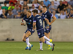 June 16, 2018 - Houston, Texas, US - Scotland Men's Rugby Team wing Byron McGuigan (11) during the Emirates Summer Series 2018 match between USA Men's Team vs Scotland Men's Team at BBVA Compass Stadium, Houston, Texas (Credit Image: © Maria Lysaker via ZUMA Wire)