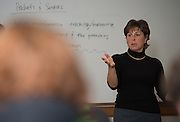 College of Business Instructor Tammy Reynolds leads a class.
