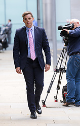 © Licensed to London News Pictures. 15/08/2017. LONDON, UK.  NATHAN GRAY, Craig Mackinlay's election agent leaving Southwark Crown Court after a Plea and Trial Preparation Hearing (PTPH). CRAIG MACKINLAY, Conservative MP for South Thanet, MARION LITTLE, Craig Mackinlay's campaign director and NATHAN GRAY, Craig Mackinlay's election agent have each been charged with offences under the Representation of the People Act 1983.  Photo credit: Vickie Flores/LNP