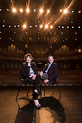 Billie Jo Starr with Jeff Schomburger at the Walton Arts Center in Fayetteville, Arkansas Environmental portrait of Billy Joe Starr and Jeff Schomburger at the Walton Arts Center in Fayetteville, Arkansas, for a feature in AY Magazine.