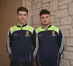 Members of Mayo&rsquo;s 2016 U21 All Ireland winning team David Kenny and Michael Hall.<br /> Pic Conor McKeown