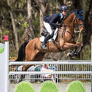 Caroline Martin (USA) and The Apprentice at the Red Hills International Horse Trials in Tallahassee, Florida.