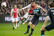 18-12-2016: Voetbal: Ajax v PSV: Amsterdam<br /> <br /> (L-R) Ajax speler Hakim Ziyech, PSV speler Bart Rameselaar tijdens het Eredivisie duel tussen Ajax en PSV op 18 december in De Arena tijdens speelronde 17<br /> <br /> Eredivisie - Seizoen 2016 / 2017<br /> <br /> Foto: Gertjan Kooij
