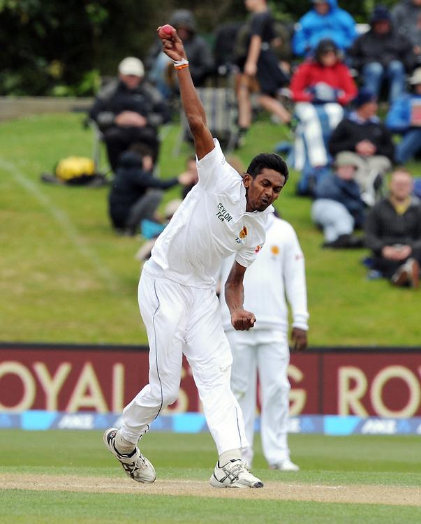 Sri Lanka's Dushmantha Chameera bowls against New Zealand on day three of the first International Cricket Test, University Cricket Oval, Dunedin, New Zealand, Saturday, December 12, 2015.Credit:SNPA / Ross Setford