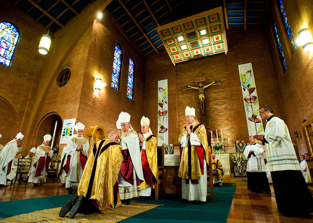 Bishop James Wall ordination ceremony at Sacred Heart Cathedral in Gallup, N.M. Photo by Brian Leddy.