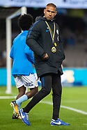 Melbourne City assistant coach Tony Vidmar during warmup at the Hyundai A-League Round 1 soccer match between Melbourne Victory and Melbourne City FC at Marvel Stadium in Melbourne.