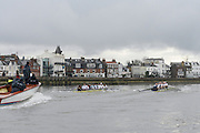 London. UNITED KINGDOM.  Oxford University BC vs German Crew. Varsity Fixture before the 159th BNY Mellon Boat Race on the Championship Course, River Thames, Putney/Mortlake.  Sunday  17/03/2013    [Mandatory Credit. Intersport Images], Oxford from Bow, Patrick Close, Geordie Macleod, Alex Davidson, Sam O'Connor, Paul Bennett, Karl Hudspith, Constantine Louloudis, Malcolm Howard and Cox Oskar Zorrilla. Germany from Bow, Toni Seifert 2012 M4-, Felix Wimberger 2012 U23 M8+, Maximilian Reinelt 2012 M8+, Felix Drahotta 2012 M2-, Anton Braun 2012 M2-, Kristof Wilke 2012 M8+, Richard Schmidt 2012 M8+, Eric Johannesen 2012 M8+ and Cox Martin Sauer 2012 M8+..Both crews approach Barnes Rail Bridge