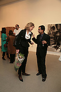 Katherine Burton and Prajit Dutta, Other,Riyas Komu and Peter Drake. - VIP  launch of Aicon. London's largest contemporary Indian art gallery. Heddon st. and afterwards ant Momo.15 Marc h 2007.  -DO NOT ARCHIVE-© Copyright Photograph by Dafydd Jones. 248 Clapham Rd. London SW9 0PZ. Tel 0207 820 0771. www.dafjones.com.