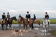 A meet before a fox hunting party, Lincolnshire, UK.