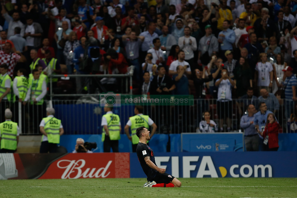 July 11, 2018 - Moscow, Vazio, Russia - During a game between England and Croatia valid for the semi final of the 2018 World Cup, held at the Lujniki Stadium in Moscow, Russia. Croatia wins 2-1. (Credit Image: © Thiago Bernardes/Pacific Press via ZUMA Wire)