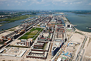 Nederland, Amsterdam, IJburg, 25-05-2010. Overzicht Haveneiland,  Theo Van Goghpark..Overview Harbour Island..luchtfoto (toeslag), aerial photo (additional fee required).foto/photo Siebe Swart