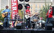 Local band, The Northern Hooks perform at Badger Bash at Union South in 2014.