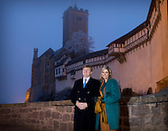 King Willem-Alexander and Queen Maxima visited The Wartburg, Eisenach 07-02-2017
