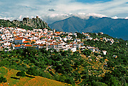 SPAIN, ANDALUSIA GAUCIN; a pretty mountaintop 'pueblo blanco' (white village) and artist community south of Ronda