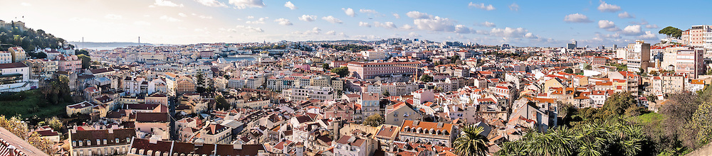 Lisbon, November 2012. Panoramic view from Graça viewpoint.