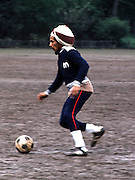 Bob Marley at Soccer match in Londons Battersea Park - The Wailers vs The Island Records team