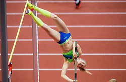 Tina Sutej of Slovenia competes in the Pole Vault Women Final on day two of the 2017 European Athletics Indoor Championships at the Kombank Arena on March 4, 2017 in Belgrade, Serbia. Photo by Vid Ponikvar / Sportida