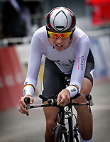 Sykkel<br /> UCI VM 2014<br /> Ponferrada Spania<br /> 23.09.2014<br /> Foto: PhotoNews/Digitalsport<br /> NORWAY ONLY<br /> <br /> Ponferrada - Spain  - wielrennen - cycling - radsport - cyclisme - Lennard Kamna (GER)  pictured during  Championnats du Monde UCI CLM/ UCI TT World Championships (Men Juniors)  WC - Wereldkampioenschap Time Trial Individual
